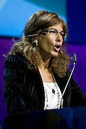 """Roma 21/01/2009 - IV Conferenza nazionale sul Digitale Terrestre dal titolo """"Niente è come prima"""". NELLA FOTO: Emma Marcegaglia, Presidente Confindustria."""