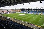 High view of the Kassam Stadium facing open end during the EFL Sky Bet League 1 match between Oxford United and Shrewsbury Town at the Kassam Stadium, Oxford, England on 7 December 2019.