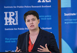 Ruth Davidson, leader of the Scottish Conservatives, gives a major speech to independent think tank IPPR Scotland on Holyrood's policy direction.
