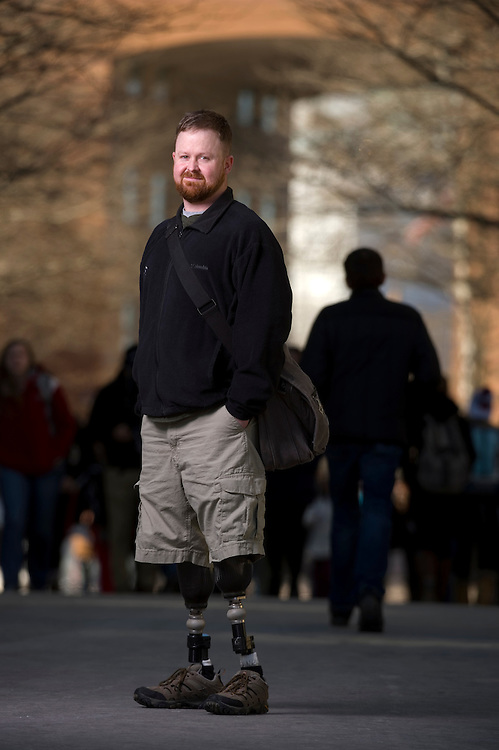 February 12, 2014 - Northeastern University student Brian Fontaine lost both legs in 2006 to an IED attack in Iraq, where he was serving as an Army tank commander. Now, Fontaine wants to use his design skills to create 3-D printed protheses to help other amputees.