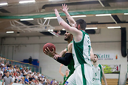 Devin Oliver of KK Petrol Olimpija Ljubljana during basketball match between KK Krka Novo mesto and  KK Petrol Olimpija in 2nd Final game of Liga Nova KBM za prvaka 2017/18, on May 22, 2018 in Sports hall Leona Stuklja, Novo mesto, Slovenia. Photo by Urban Urbanc / Sportida
