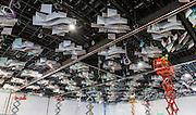ICC ballroom ceiling under construction
