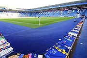 A general stadium view of The King Power Stadium before the Premier League match between Leicester City and Burnley at the King Power Stadium, Leicester, England on 10 November 2018.
