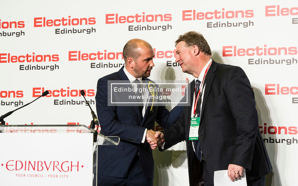 Pictured: SNP Ben MacPherson elected in Edinburgh North and Leith<br /> <br /> <br /> The count has started for the Edinburgh Count as part of the Scottish Election 2016. A long night is anticipated with results predicted to start being announced around 7 AM<br /> <br /> <br /> <br /> Ger Harley | EEm 5 May 2016