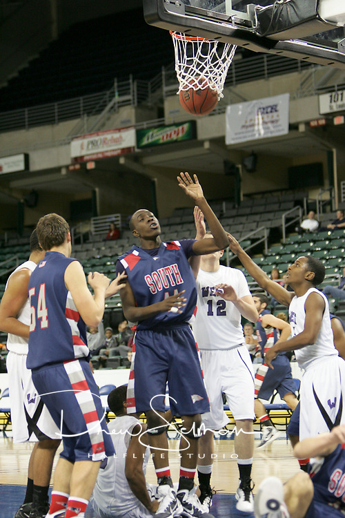 Patriot forward Darius Perry (44) with two.