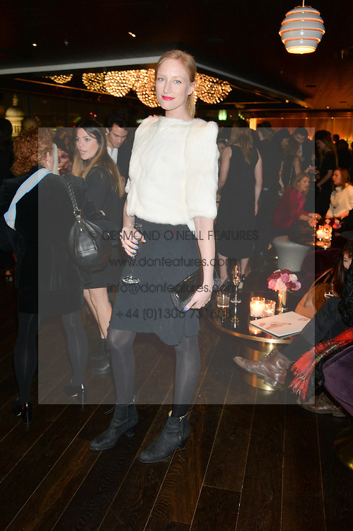 JADE PARFITT at the Launch Of Osman Yousefzada's 'The Collective' 4th edition with special guest collaborator Poppy Delevingne held in the Rumpus Room at The Mondrian Hotel, 19 Upper Ground, London SE1 on 24th November 2014, sponsored by Storm models and Beluga vodka.