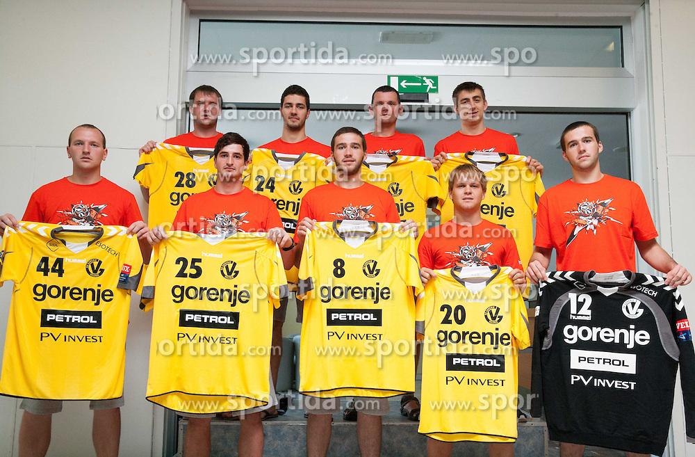 Presentation of new players during press conference of RK Gorenje before new handball season 2013/14 on July 31, 2013 in Gorenje, Velenje, Slovenia.  (Photo by Vid Ponikvar / Sportida.com)