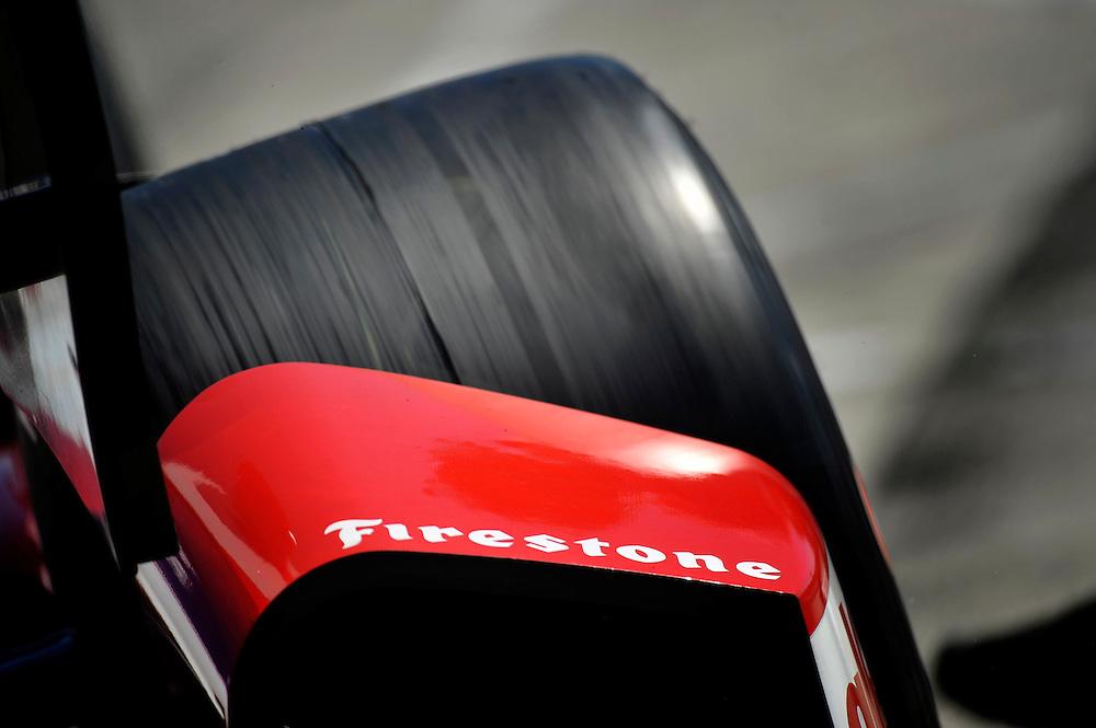 25-27 April, 2014, Birmingham, Alabama USA<br /> Firestone tire<br /> &copy;2014 Scott R LePage <br /> LAT Photo USA