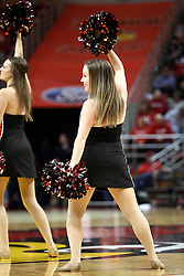 28 January 2015:  Redline Dancer  during an NCAA MVC (Missouri Valley Conference) men's basketball game between the Missouri State Bears and the Illinois State Redbirds at Redbird Arena in Normal Illinois