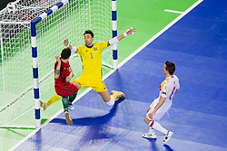 Bruni Coelho of Portugal and Paco Sedano of Spain during futsal match between Portugal and Spain in Final match of UEFA Futsal EURO 2018, on February 10, 2018 in Arena Stozice, Ljubljana, Slovenia. Photo by Urban Urbanc / Sportida