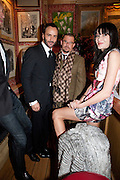 TOM FORD; ALEXANDER MCQUEEN;ANNABEL ROTHSCHILD, Graydon Carter hosts a diner for Tom Ford to celebrate the London premiere of ' A Single Man' Harry's Bar. South Audley St. London. 1 February 2010