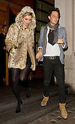 17.NOV.2009.  LONDON<br /> <br /> SUPERMODEL KATE MOSS WHO IS WEARING A FUR COAT AND BOYFRIEND JAMIE HINCE LEAVE A FRIENDS HOUSE IN MAYFAIR AT 2.30AM AND HEADED ONTO ALMADA NIGHTCLUB IN MAYFAIR. KATE AND JAMIE LEFT THE CLUB AT 5.00AM AND KATE PUT HER HOOD UP ON HER JACKET TO PRTECT HER FROM THE WIND<br /> <br /> BYLINE: EDBIMAGEARCHIVE.COM<br /> <br /> *THIS IMAGE IS STRICTLY FOR UK NEWSPAPERS &amp; MAGAZINES ONLY*<br /> *FOR WORLDWIDE SALES &amp; WEB USE PLEASE CONTACT EDBIMAGEARCHIVE-0208 954 5968*