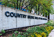 Exterior of the Country Music Hall of Fame, Nashville, Tennessee, USA.