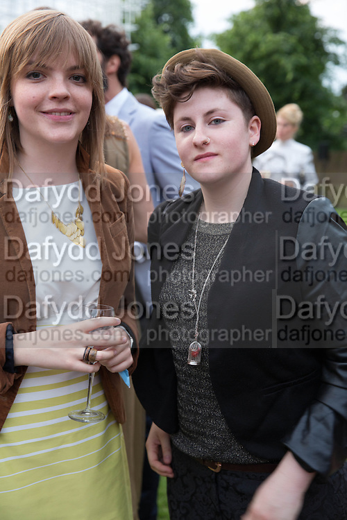 CHLOE MEINECK; JASMINE MARIE CREUSSON, The Serpentine Summer Party 2013 hosted by Julia Peyton-Jones and L'Wren Scott.  Pavion designed by Japanese architect Sou Fujimoto. Serpentine Gallery. 26 June 2013. ,