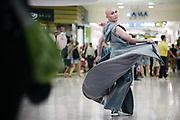 Bangkok January 2018,<br /> Chana Lanna, a famous transgender in Bangkok At the MBK Fashion Mall.Bangkok Janvier 2018,<br /> Chana Lanna, une transsexuelle célèbre à Bangkok au centre commercial MBK Fashion Mall.