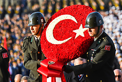 November 10, 2018 - Ankara, Turkey - Turkey hold ceremony at the mausoleum of Mustafa Kemal Ataturk, the founder of modern Turkey, to commemorate his 80th death anniversary in Ankara. (Credit Image: © Depo Photos via ZUMA Wire)