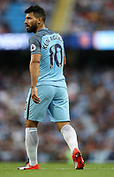 Football - Sergio Aguero of Manchester City during the match at the Etihad Stadium between Manchester City and West Ham United. <br /> <br /> 2016 / 2017 Premier League - Manchester City vs. West Ham United<br /> <br /> -- at The Etihad Stadium.<br /> <br /> COLORSPORT/LYNNE CAMERON