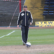 Referee Craig Thomson - Pitch inspection ahead of the Dundee v Inverness Caledonian Thistle - Clydesdale Bank Scottish Premier League match at Dens Park .. - © David Young - www.davidyoungphoto.co.uk - email: davidyoungphoto@gmail.com