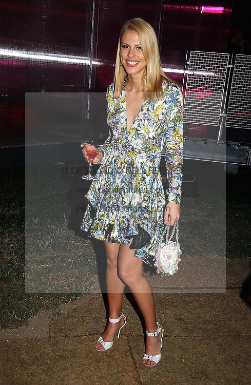 PETRINA KHASHOGGI  at the Serpentine Gallery Summer party sponsored by Yves Saint Laurent held at the Serpentine Gallery, Kensington Gardens, London W2 on 11th July 2006.<br />