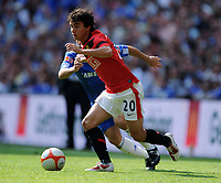Fabio Da Silva<br /> Manchester United 2009/10<br /> Deco Chelsea<br /> Chelsea V Manchester United 09/08/09<br /> Chelsea Win (4-1) During Penalty Shootout<br /> The FA Community Shield 2009 Wembley Stadium<br /> Photo Robin Parker Fotosports International