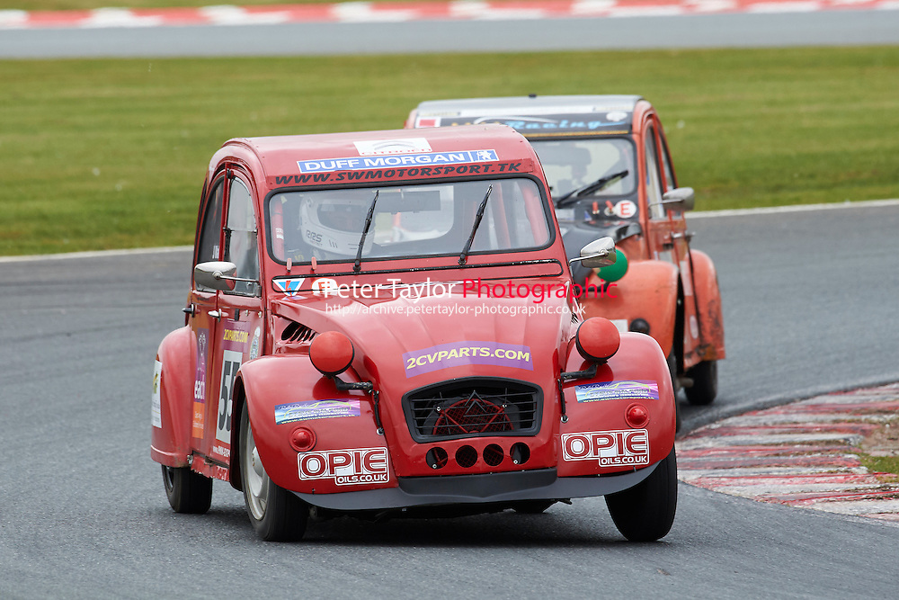 #55 Steven WALFORD Citroen 2CV 602 during 2CVParts.com Classic Championship as part of the BARC NW - Championship Raceday  at Oulton Park, Little Budworth, Cheshire, United Kingdom. March 19 2016. World Copyright Peter Taylor/PSP. Copy of publication required for printed pictures.  Every used picture is fee-liable.