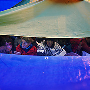 The Camp for Climate Change UK 2007<br /> The camp was a camp set up to highlight protests against a proposed third runway at Heathrow, destroying nearby villages and to put the spotlight on climate change issues.  The campers had been villified in advance by police and some media out-lets, claiming the campers would attack Heathrow Airport, but all direct actions which came out of the camp were very peaceful.  The campers went from the camp through the police line to occupy the BAA staff car park.  The action took place on a Sunday with the intended aim of staying 24 hours to disrupt BAA business the following Monday morning.