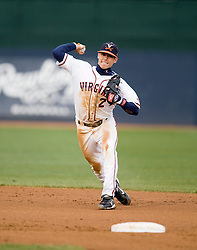 Virginia Cavaliers INF Greg Miclat (2) makes a play at shortstop.  The #16 ranked Virginia Cavaliers baseball team defeated the Radford Highlanders 8-2 at the University of Virginia's Davenport Field in Charlottesville, VA on March 11, 2008.