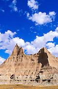 Eroded spires in the badlands near Cedar Pass, Badlands National Park, South Dakota