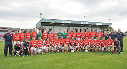 The Kilmaine team pictured before the Padraig O'Dea memorial match in Kilmaine on saturday last.<br /> Pic Conor McKeown