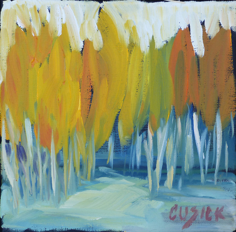 """6""""h x 6""""w, Oil on Linen Canvas,"""