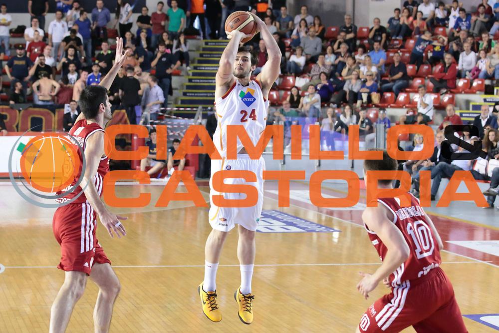 DESCRIZIONE : Roma Lega A 2013-2014 Acea Roma Cimberio Varese<br /> GIOCATORE : Riccardo Moraschini CATEGORIA : three points<br /> SQUADRA : Acea Roma<br /> EVENTO : Campionato Lega A 2013-2014<br /> GARA : Acea Roma Cimberio Varese<br /> DATA : 11/05/2014<br /> SPORT : Pallacanestro <br /> AUTORE : Agenzia Ciamillo-Castoria/M.Simoni<br /> Galleria : Lega Basket A 2013-2014  <br /> Fotonotizia : Roma Lega A 2013-2014 Acea Roma Cimberio Varese<br /> Predefinita :