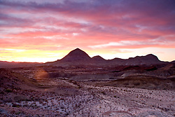 Stock photo of the sunset at Christmas mountain range, Brewster County, west Texas