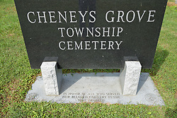 31 August 2017:   Veterans graves in Cheneys Grove Township Cemetery in eastern McLean County.