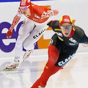 NLD/Heerenveen/20130111 - ISU Europees Kampioenschap Allround schaatsen 2013, 5000 meter heren, Ivan Skobrev - Bart Swings