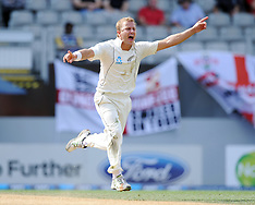 Auckland-Cricket, New Zealand v England, 3rd test, 5th day, March 26