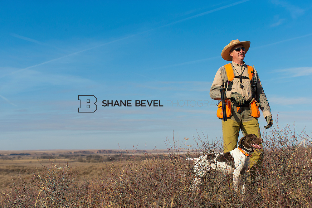 12/8/12 11:31:11 AM -- Quail hunting on the Cimarron Hills WMA in western Oklahoma. <br /> <br /> Photo by Shane Bevel