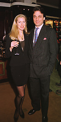 MISS CATRINA SKEPPER and her fiancee COUNT ALLESANDRO GUERRINI-MARALDI, at a party in London on 11th February 1999.MOI 41