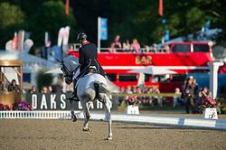 Eilberg Michael (GBR) - Half Moon Delphi <br /> CDI3* Grand Prix Freestyle <br /> Royal Windsor Horse Show 2014<br /> © Hippo Foto - Jon Stroud