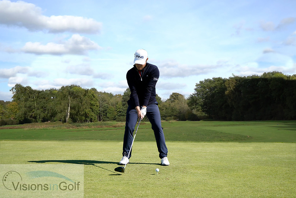Tyrrell Hatton<br /> High Speed Swing Sequence<br /> Face On driver<br /> July 2017<br /> Picture Credit: Mark Newcombe/visionsingolf.com