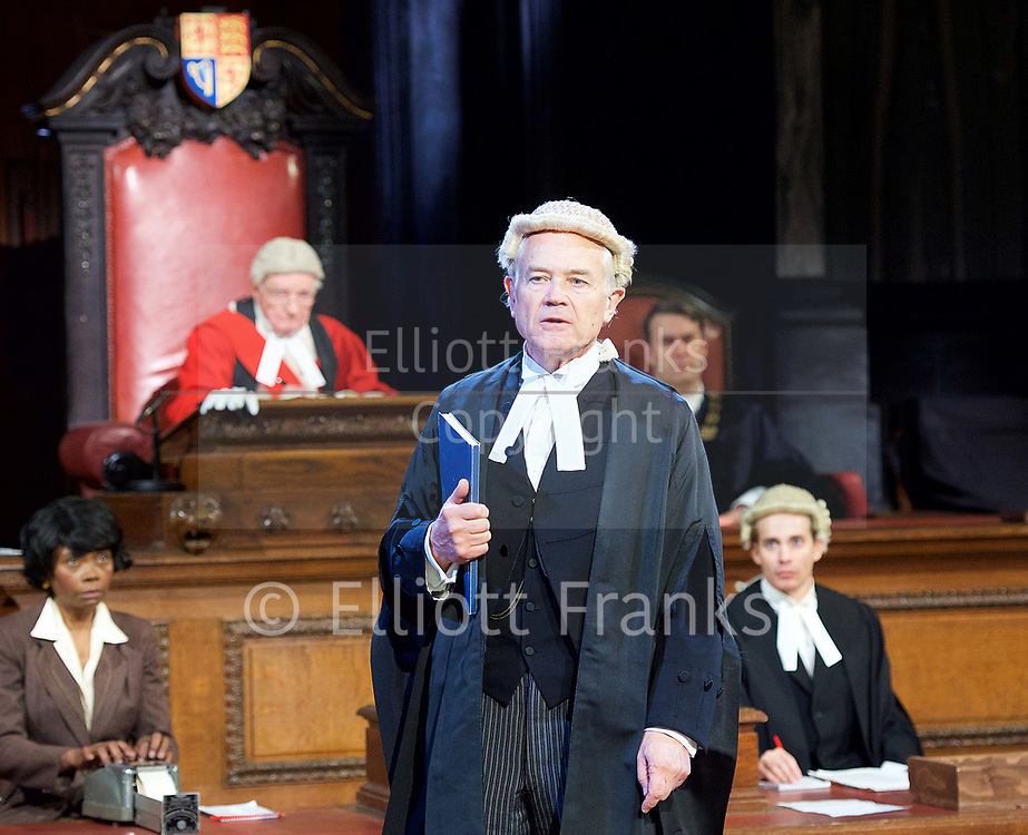 Witness for the Prosecution by Agatha Christie <br /> at London County Hall, Southbank, London, Great Britain <br /> press photocall <br /> 20th October 2017 <br /> <br /> directed by Lucy Bailey <br /> <br /> <br /> <br /> David Yelland as Sir Wilfrid Robarts <br /> <br /> <br /> <br /> <br /> <br /> Photograph by Elliott Franks <br /> Image licensed to Elliott Franks Photography Services