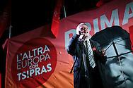 Elezioni europee. Campagna elettorale della lista Tsipras. Comizio a Milano, 10 maggio 2014. Nichi Vendola.