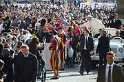 VATICAN CITY, ITALY 27 SEPT 2017: Images from the General Audience with Pope Francis in St. Peters Square on Sept. 27, 2017