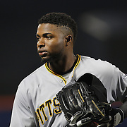 NEW YORK, NEW YORK - June 16: Gregory Polanco #25 of the Pittsburgh Pirates during the Pittsburgh Pirates Vs New York Mets regular season MLB game at Citi Field on June 16, 2016 in New York City. (Photo by Tim Clayton/Corbis via Getty Images)
