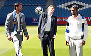 Wladimir Klitschko kicks a football in the face of his PR man Joachim Hilke as he announces his Heavyweight unification fight against WBA HEavyweight Champion David Haye of England. The fight will fianlly take place afte two years of negotiations at the Imtech-Arena on the 2nd July.
