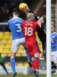 Ben Wilson of Rochdale claims the ball before Andrew Hughes of Peterborough United - Mandatory by-line: Joe Dent/JMP - 25/02/2017 - FOOTBALL - ABAX Stadium - Peterborough, England - Peterborough United v Rochdale - Sky Bet League One