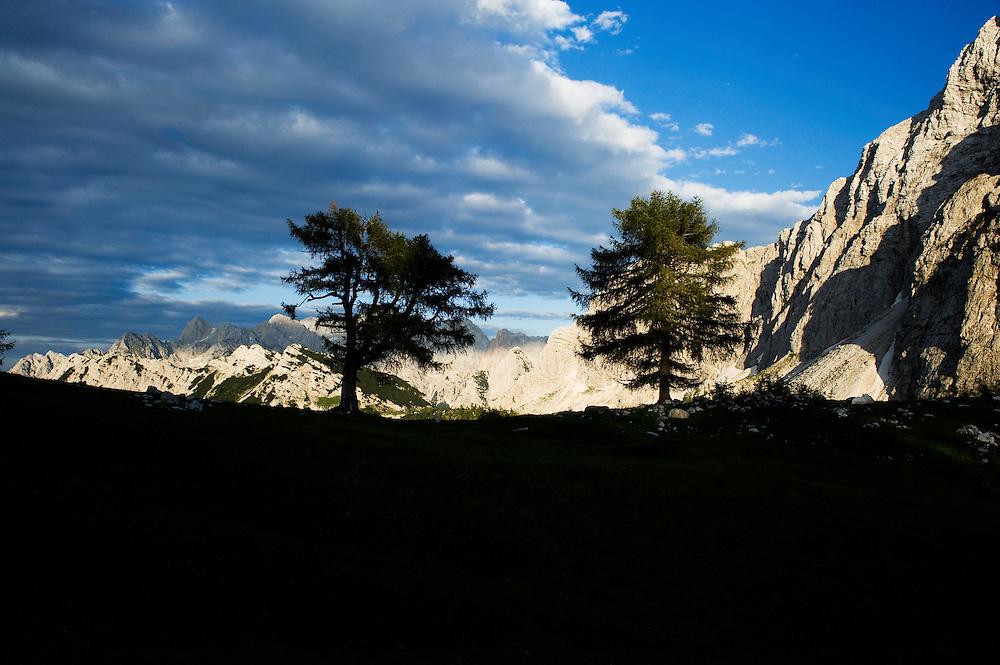 view from &quot;Sleme&quot;<br /> Julian Alps<br /> Triglav National Park, Slovenia<br /> July 2009