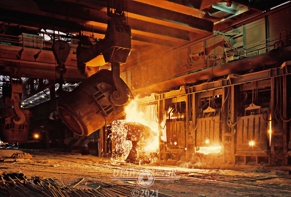 Geneva Steel Open Hearth.Industry steel mill