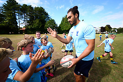 Chris Vui at the Bristol Bears Community Foundation Summer Holiday Camp at Old Bristolians RFC - Mandatory by-line: Dougie Allward/JMP - 15/08/2018 - Rugby
