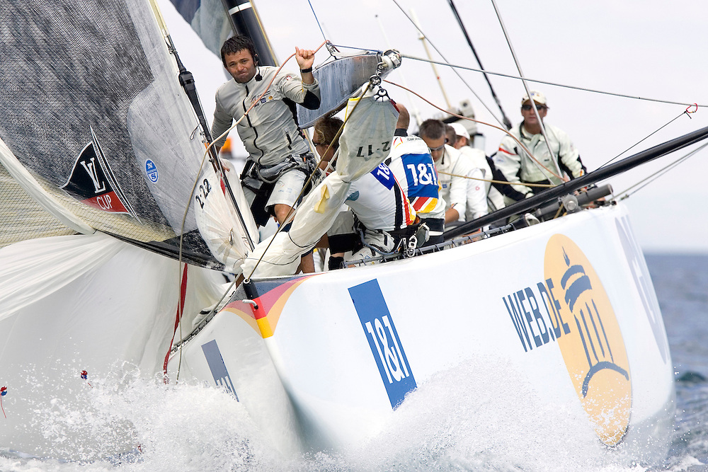 Valencia, SPAIN, Louis Vuitton Cup, Round Robin 2, Flight 5.United Internet Team Germany (GER)