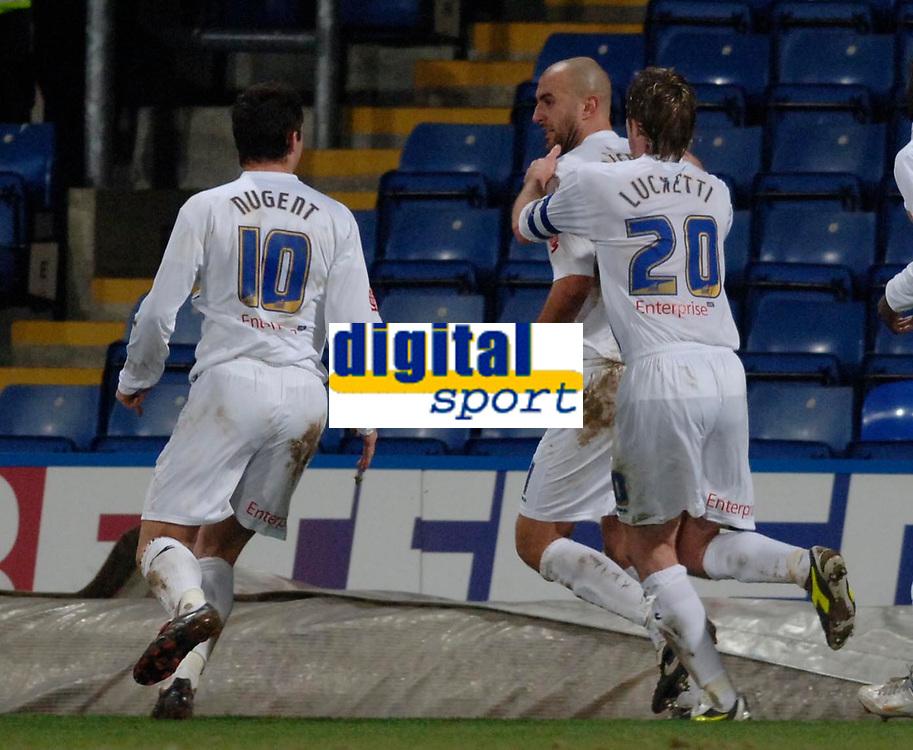 Photo: Daniel Hambury.<br />Crystal Palace v Preston North End. The FA Cup. 07/02/2006.<br />Preston's Daniel Dichio celebrates with team mates after scoring the winning goal.